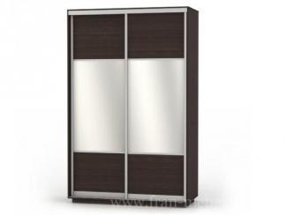 Двухдверный шкаф-купе шириной 1400 мм с зеркалами Комби Дуо  - Мебельная фабрика «Фран»