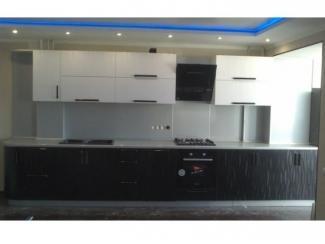 Черно-белый кухонный гарнитур 3D - Мебельная фабрика «Вектра-мебель»