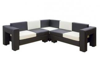 Черно-белый кухонный уголок Ладога - Мебельная фабрика «Ритм»