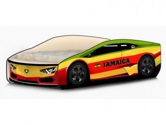 Кровать-машина Ламбо Ямайка жёлто-красный - Мебельная фабрика «КАРоБАС»