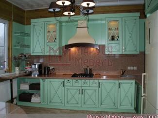 Кухня прямая Фисташковая МДФ - Мебельная фабрика «Маруся мебель»