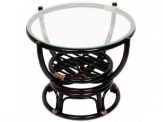 Стол из ротанга  со стеклом ТЕОДОР - Импортёр мебели «ЭкоДизайн»