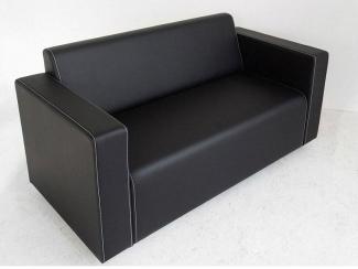 Диван прямой черный - Мебельная фабрика «Лион»