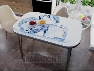 Стол обеденный с фотопечатью Лед - Мебельная фабрика «Вавилон58»