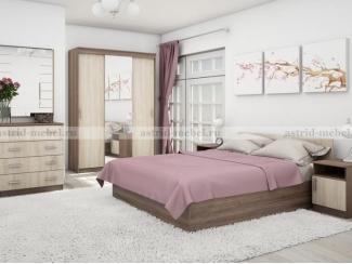 Спальный гарнитур Бася 3 - Мебельная фабрика «Астрид-Мебель (Циркон)»