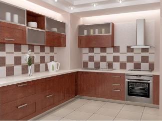 Кухня коричневая угловая - Мебельная фабрика «Династия»