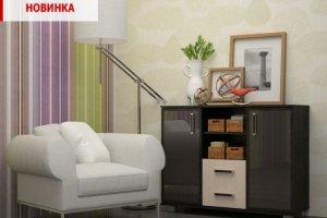 Комод Сонет со стеклянным фасадом - Мебельная фабрика «Первомайское»