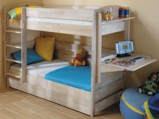 Кровать Двухъярусная массив - Мебельная фабрика «Боровичи-Мебель»