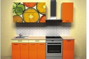Кухонный гарнитур Цитрус оранжевый - Мебельная фабрика «Союз-мебель»