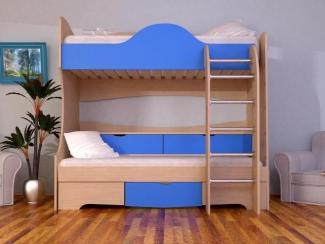 Кровать 2-х ярусная с прикроватным блоком - Мебельная фабрика «Мистер Хенк»