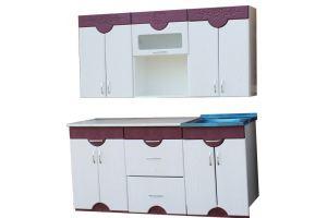 Кухня прямая Роза 1.5м - Мебельная фабрика «Мебельный Арсенал»