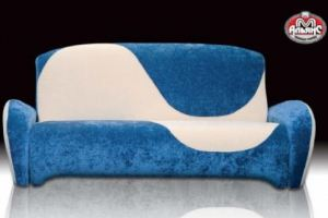 Диван-кровать Верона-книжка в голубом цвете  - Мебельная фабрика «Альянс-М»