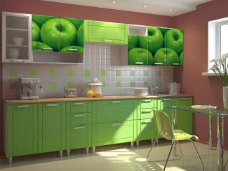 Кухонный гарнитур прямой 14 фотопечать - Мебельная фабрика «Виктория»