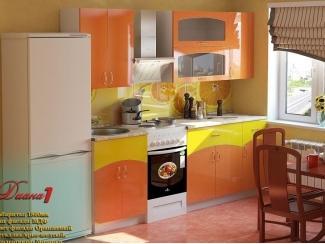 Оранжевая кухня Диана 1