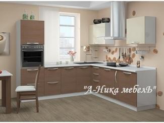 Угловая кухня из пластика Капучино - Мебельная фабрика «А-Ника», г. Ульяновск