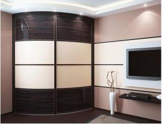 Радиусный шкаф-купе Нарайна 10 - Мебельная фабрика «Альбина»
