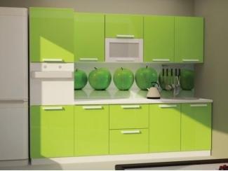 Зеленая кухня Лайм  - Мебельная фабрика «Корвет»