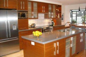 Кухня прямая с островом - Мебельная фабрика «Метрика мебельная мануфактура»