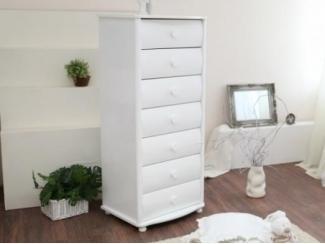 Высокий белый комод С545 - Мебельная фабрика «Красная звезда»