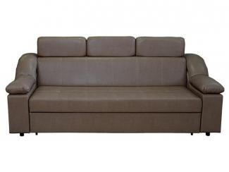 Прямой коричневый диван - Мебельная фабрика «Левано»