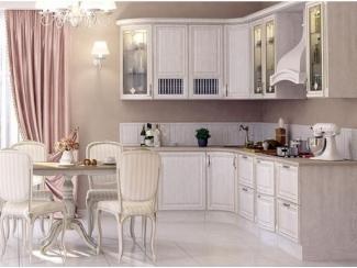 Угловая кухня из массива дуба Эмилия - Мебельная фабрика «Кухни Медынь»