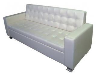 Диван прямой белый Клетка - Мебельная фабрика «МКмебель»
