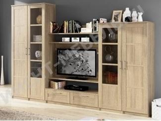 Светлая гостиная Композиция 5 - Мебельная фабрика «Континент-мебель»