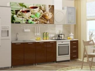 Глянцевая кухня с фотопечатью КФ-56 - Мебельная фабрика «Северин»