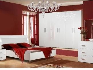 Спальный гарнитур Вена белый глянец - Мебельная фабрика «Август»