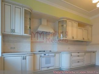 Кухня прямая с гнутыми фасадами массив - Мебельная фабрика «Маруся мебель»