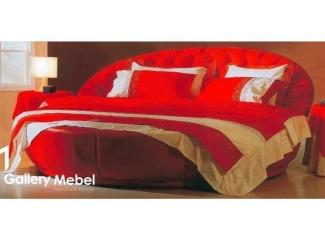 Красная кровать Letto Rotondo 05 - Мебельная фабрика «Галерея Мебели GM»