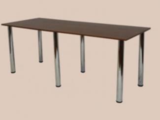 Стол обеденный на хром-ноге (6 ног) - Мебельная фабрика «Мартис Ком»