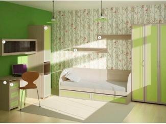 Детская в зеленом цвете Смарт  - Мебельная фабрика «Аллоджио»