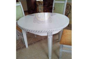 Стол белый круглый - Мебельная фабрика «Эксклюзивная мебель из дуба Кельтура»
