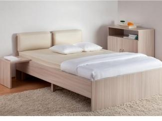 Кровать Мелисса с мягкой спинкой - Мебельная фабрика «Боровичи-мебель»