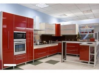 Кухня пластик в алюминиевой рамке (темный оранж) - Мебельная фабрика «Ренессанс»