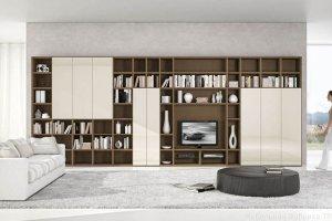 Гостиная с полками для книг Виталия - Мебельная фабрика «Триана»