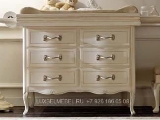 Стильный комод из массива 1530 - Мебельная фабрика «ЛюксБелМебель»