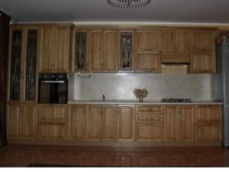 Кухня из массива дуба в цвете лак ПУ - Мебельная фабрика «Леспром»