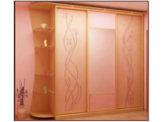 Большой шкаф-купе с декором  - Мебельная фабрика «Перспектива»