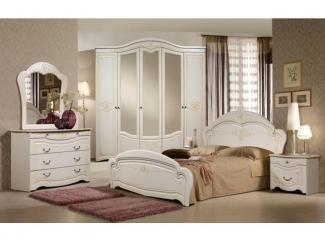 Белый спальный гарнитур Джамилия - Мебельная фабрика «Слониммебель», г. Слоним
