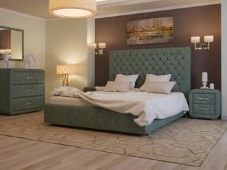Кровать Богема вельвет 79 - Мебельная фабрика «ARISTA»