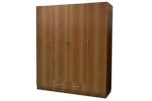 Шкаф для платья и белья 4-дверный - Мебельная фабрика «ЛТиК» г. Барнаул