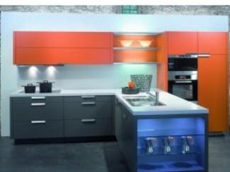 Кухонный гарнитур Серо-оранжевый - Мебельная фабрика «Московский мебельный альянс»