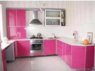 Кухонный гарнитур угловой Розовый дым
