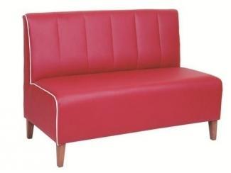 Красный офисный диван AKN-5507 - Мебельная фабрика «Металл Плекс» г. Краснодар