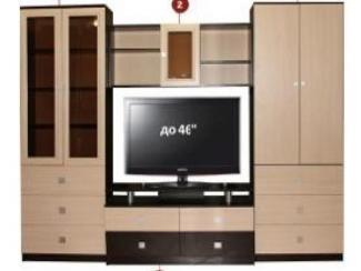 Гостиная стенка ТВ-22 Комплектация D