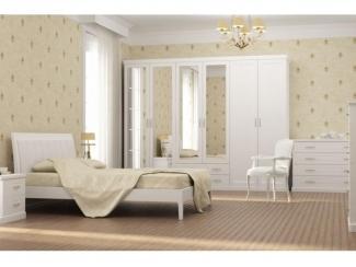 Классическая мебель для спальни в белом цвете Каролина 2 - Мебельная фабрика «Ресурс-мебель (Lasort)», г. Кирово-Чепецк