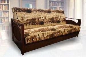 Диван-книжка с деревянными подлокотниками