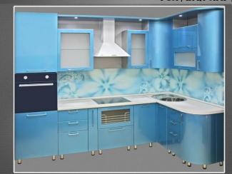 Кухня угловая Голубая лагуна - Мебельная фабрика «Нильс»